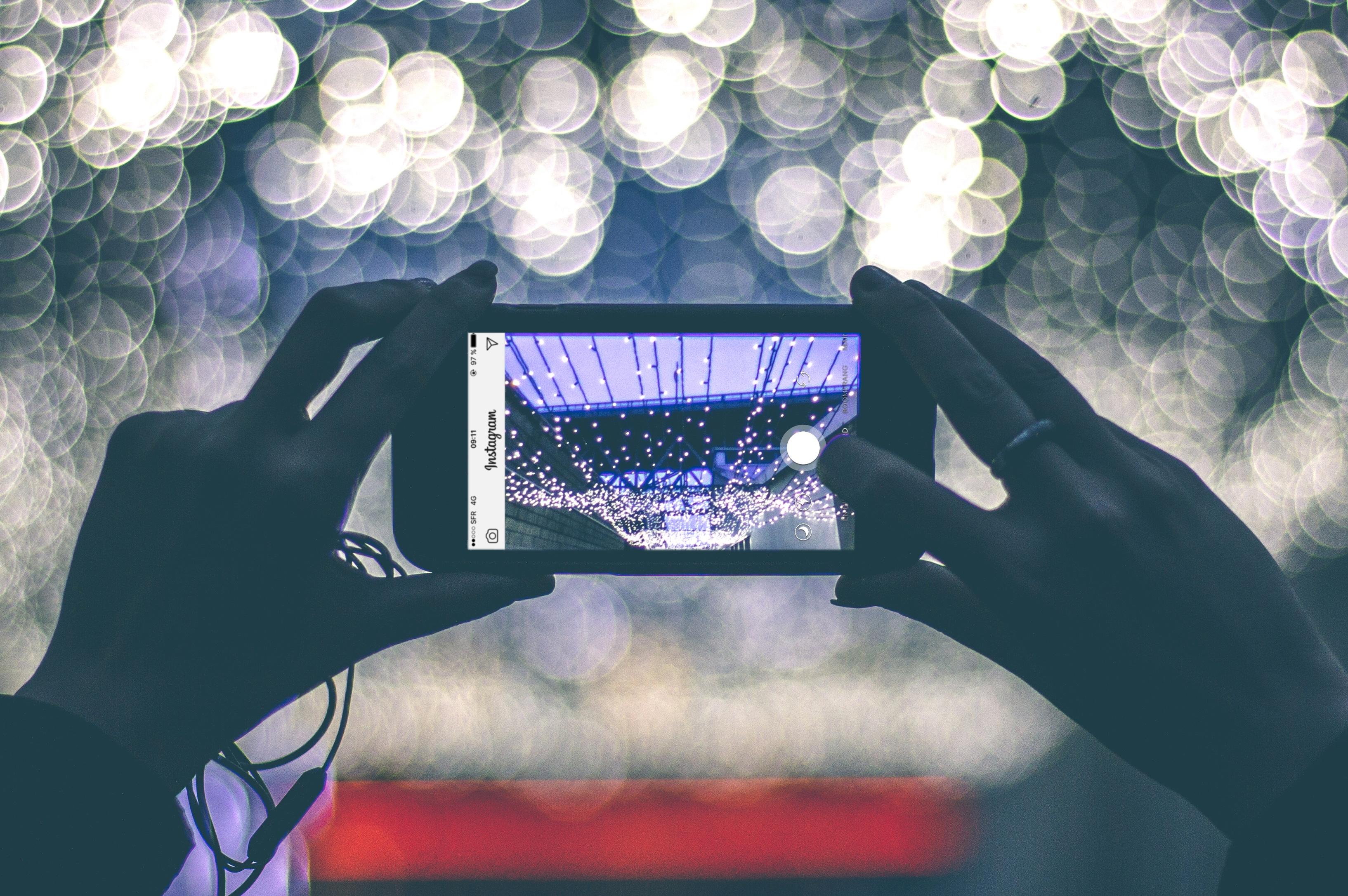 Instagram lors d'un événement