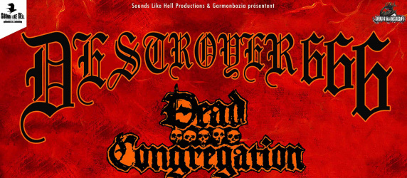 DESTROYER 666 + DEAD CONGREGATION + NOCTURNAL GRAVES + INCONCESSUS LUX LUCIS à Lyon (CCO)