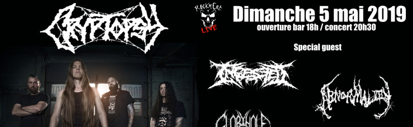 CRYPTOPSY + INGESTED + ABNORMALITY + GLORYHOLE GUILLOTINE