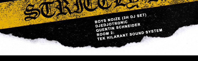 UNDER. Boys Noize + Tek Hilarant Sound system