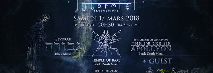 Ytormis Prod. : Temple of Baal / Gevurah / The Order of Apollyon
