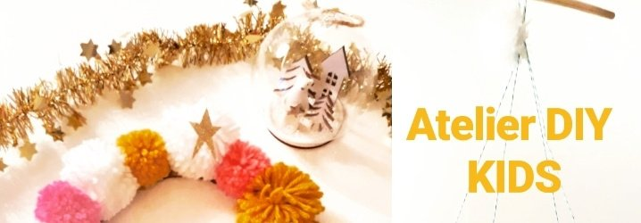 ATELIER DIY Enfants - Couronne - Mobile de Noël