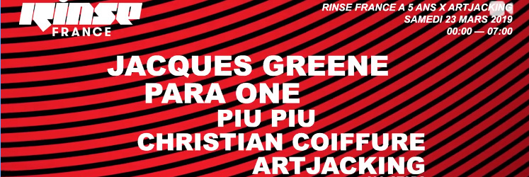 Rinse France a 5 ans | Salle 2 | Artjacking